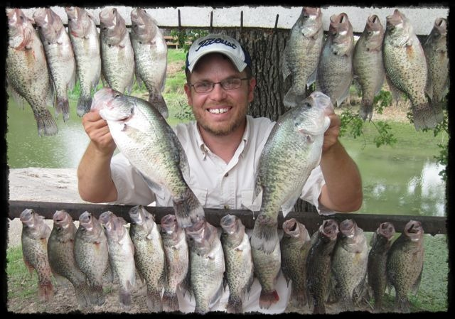 Mitch Parker of Dallas Guide Fishing with some limits of crappie