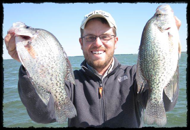 Richland Chambers fishing guide Mitch Parker with some big slab crappie